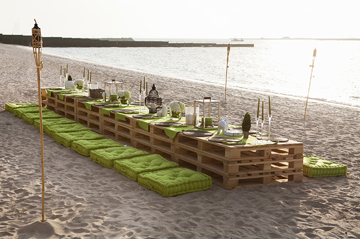Beach Party Set Up Private Theme